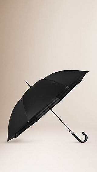 Check-Lined Walking Umbrella