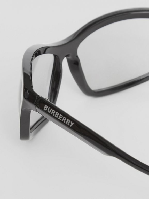 Wrap Frame Sunglasses in Black - Men | Burberry Singapore - cell image 1