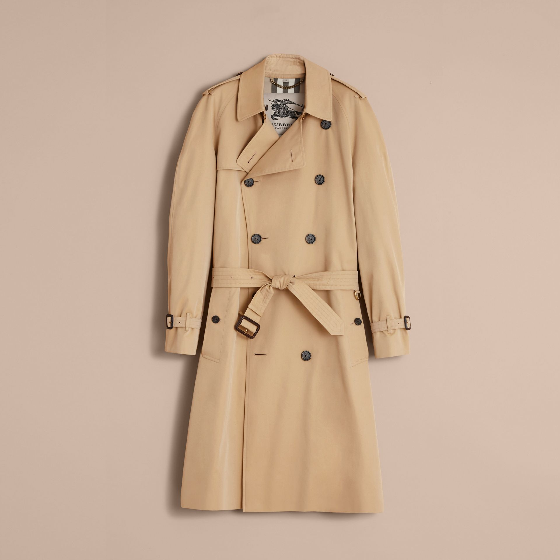 The Westminster – Long Heritage Trench Coat in Honey - gallery image 4