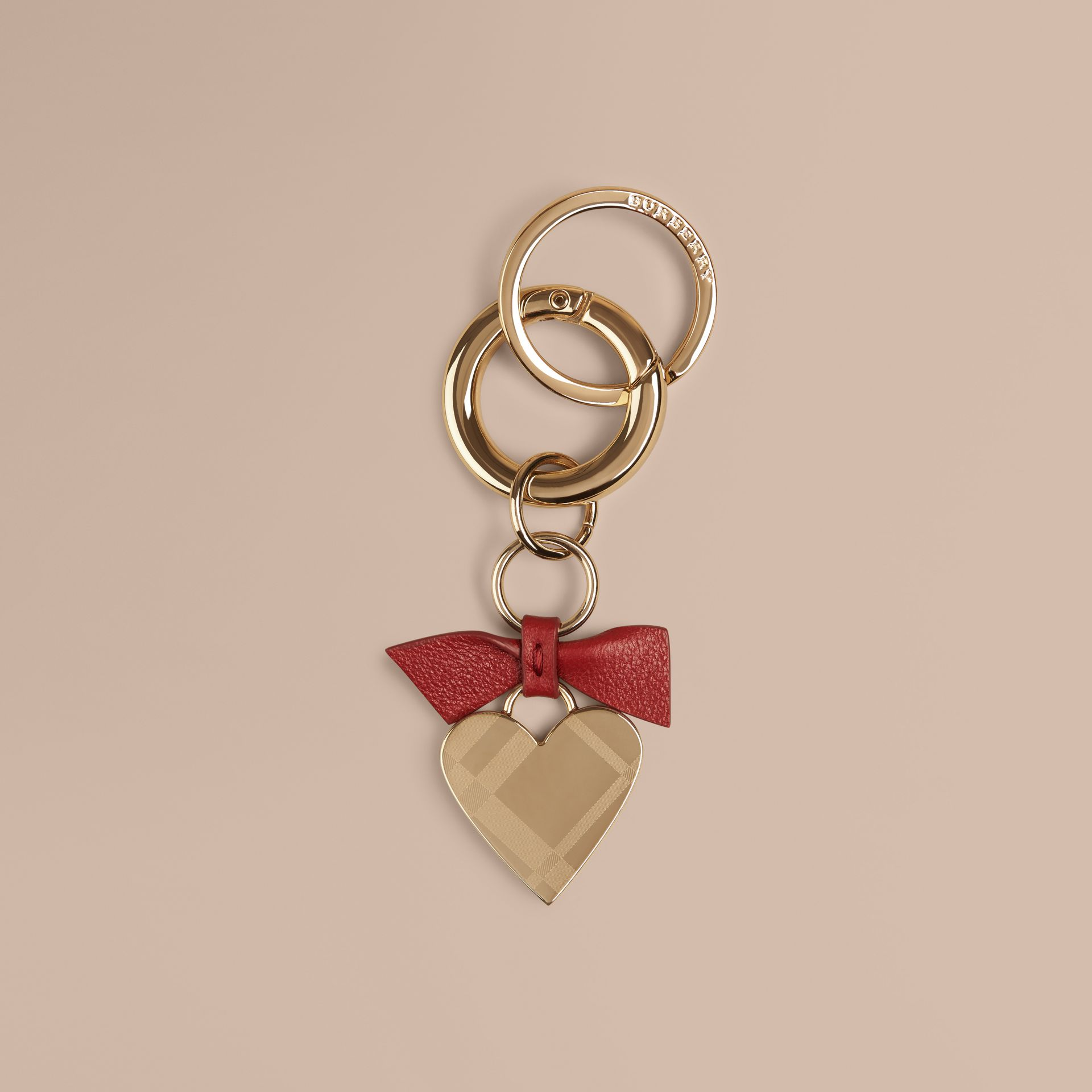 Parade red Heart Key Charm - gallery image 1