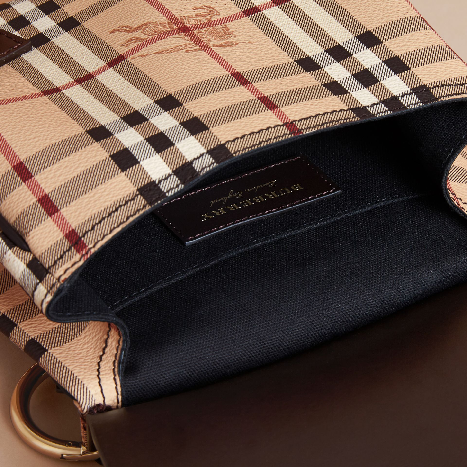The Bridle Crossbody Bag in Haymarket Check - Women | Burberry - gallery image 5