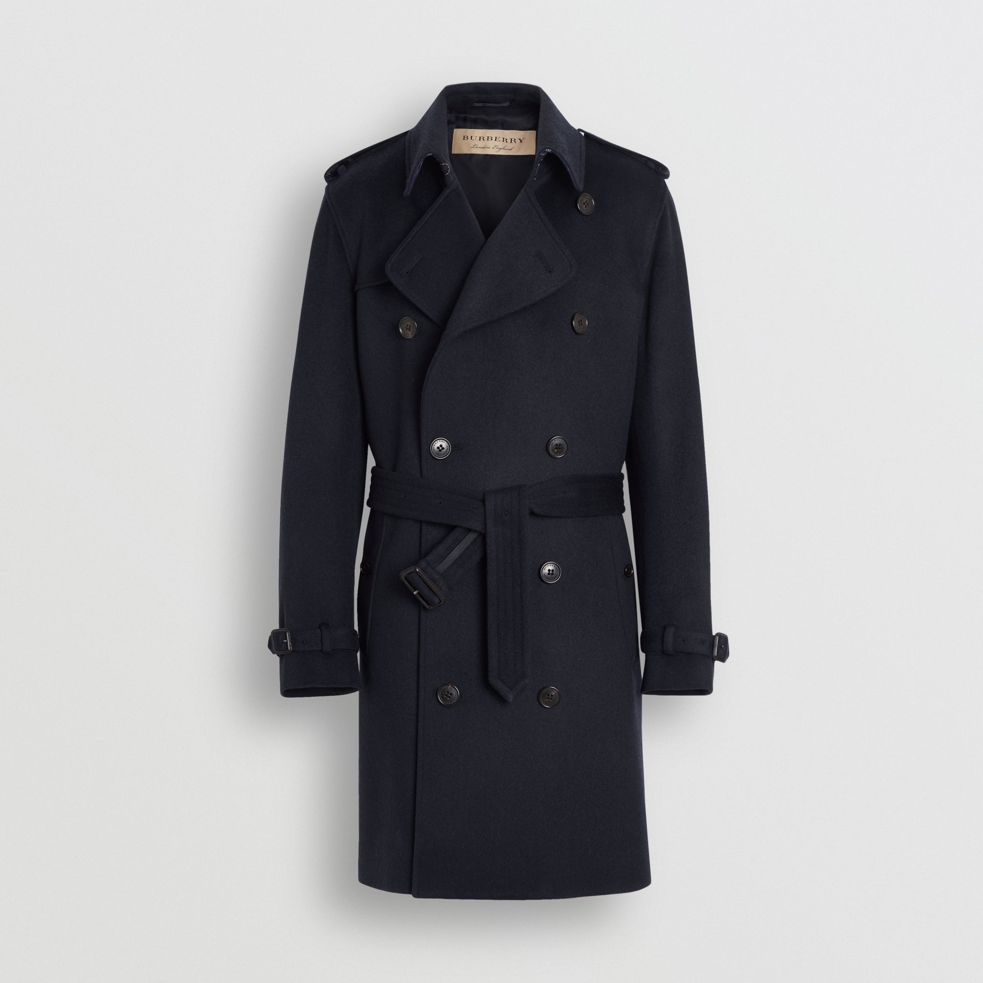 Cashmere Trench Coat in Navy - Men | Burberry Hong Kong - gallery image 3