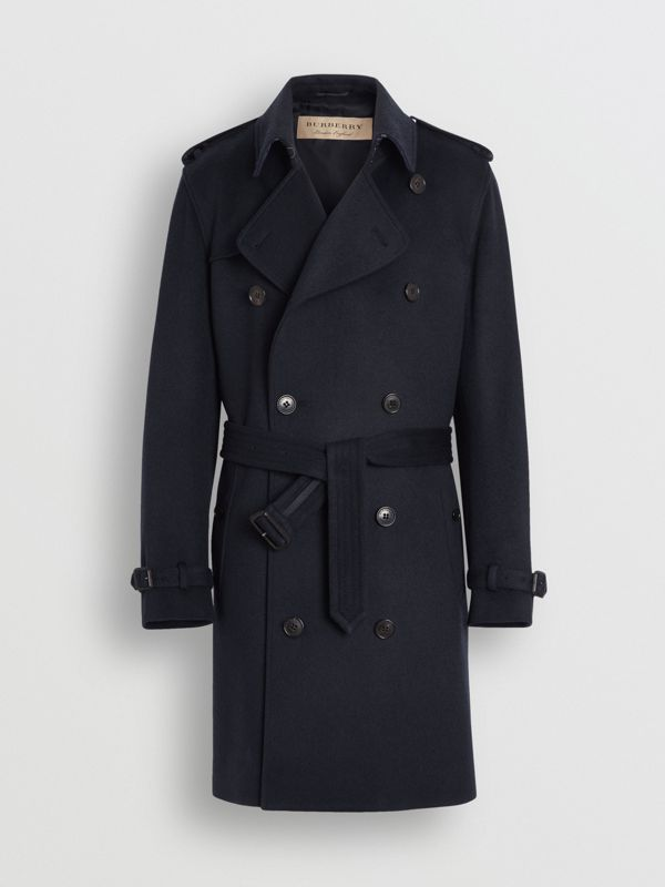 Cashmere Trench Coat in Navy - Men | Burberry United Kingdom - cell image 3