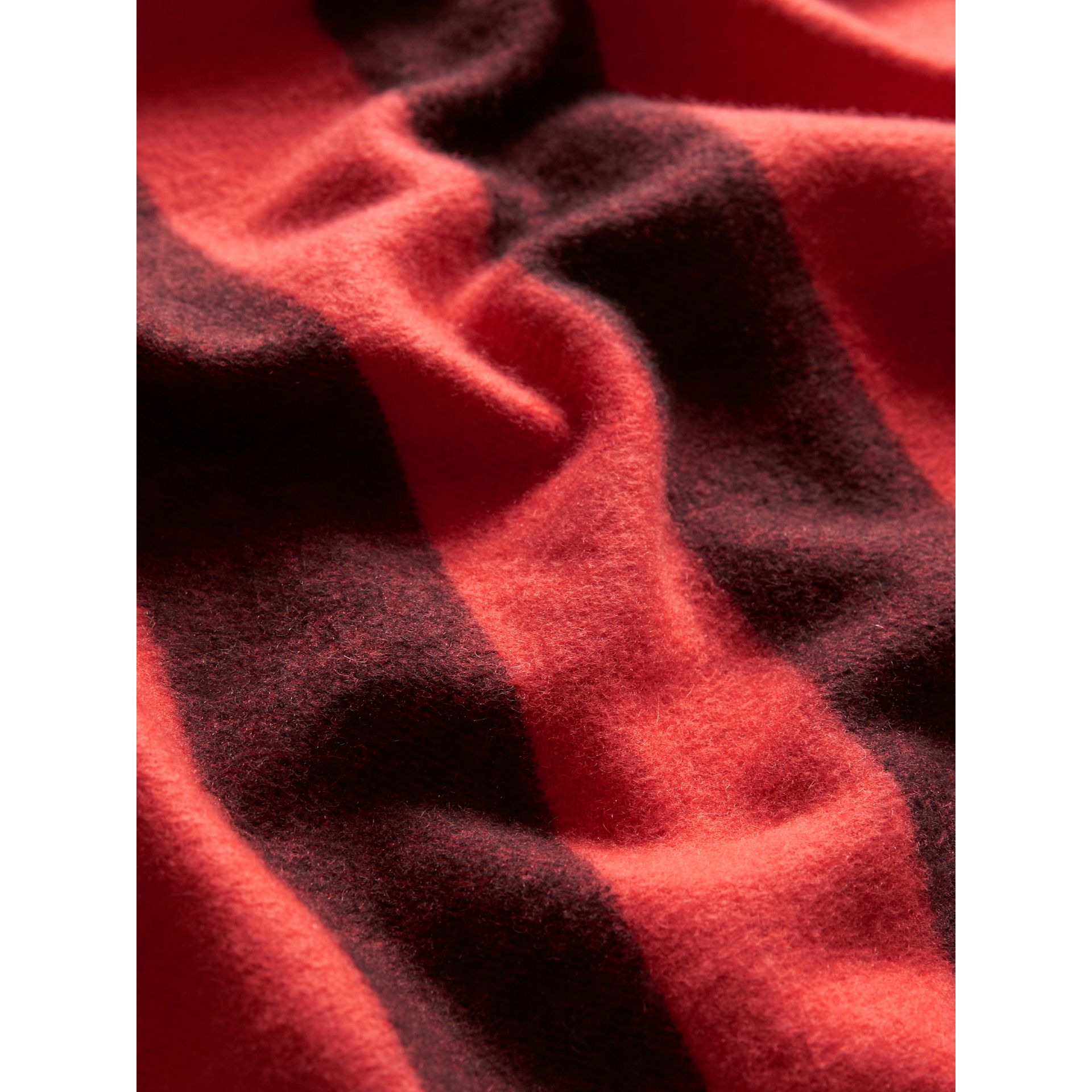 The Burberry Bandana in Check Cashmere in Orange Red | Burberry - gallery image 2