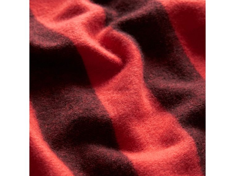 The Burberry Bandana in Check Cashmere in Orange Red | Burberry - cell image 1