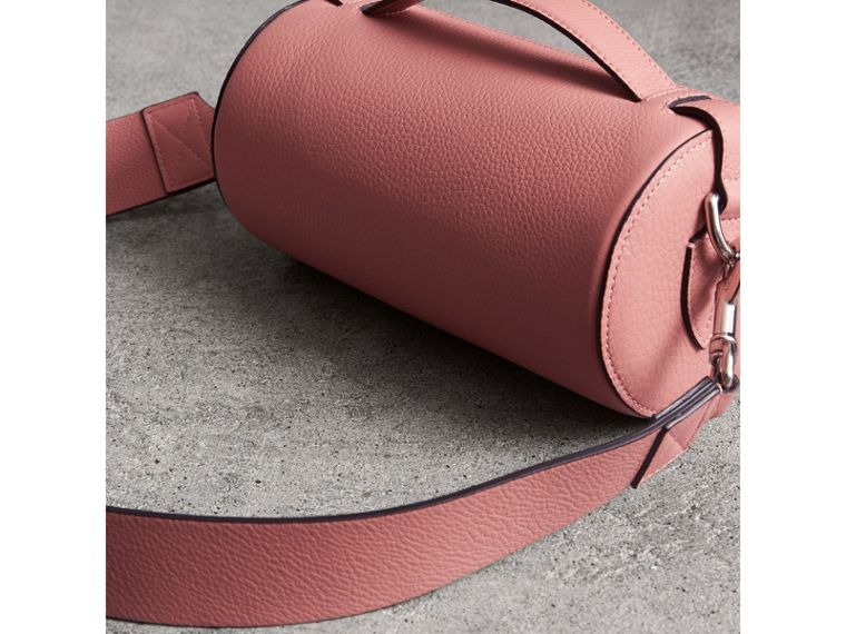 The Leather Barrel Bag in Dusty Rose - Women | Burberry Canada - cell image 4