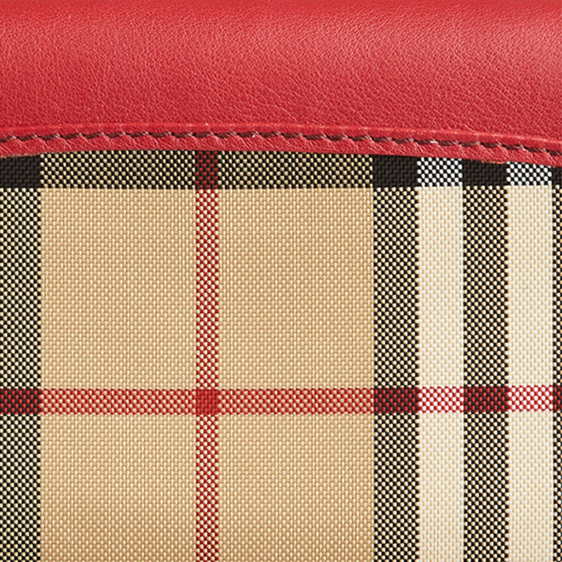 Horseferry Check and Leather Continental Wallet in Parade Red - Women | Burberry - gallery image 2