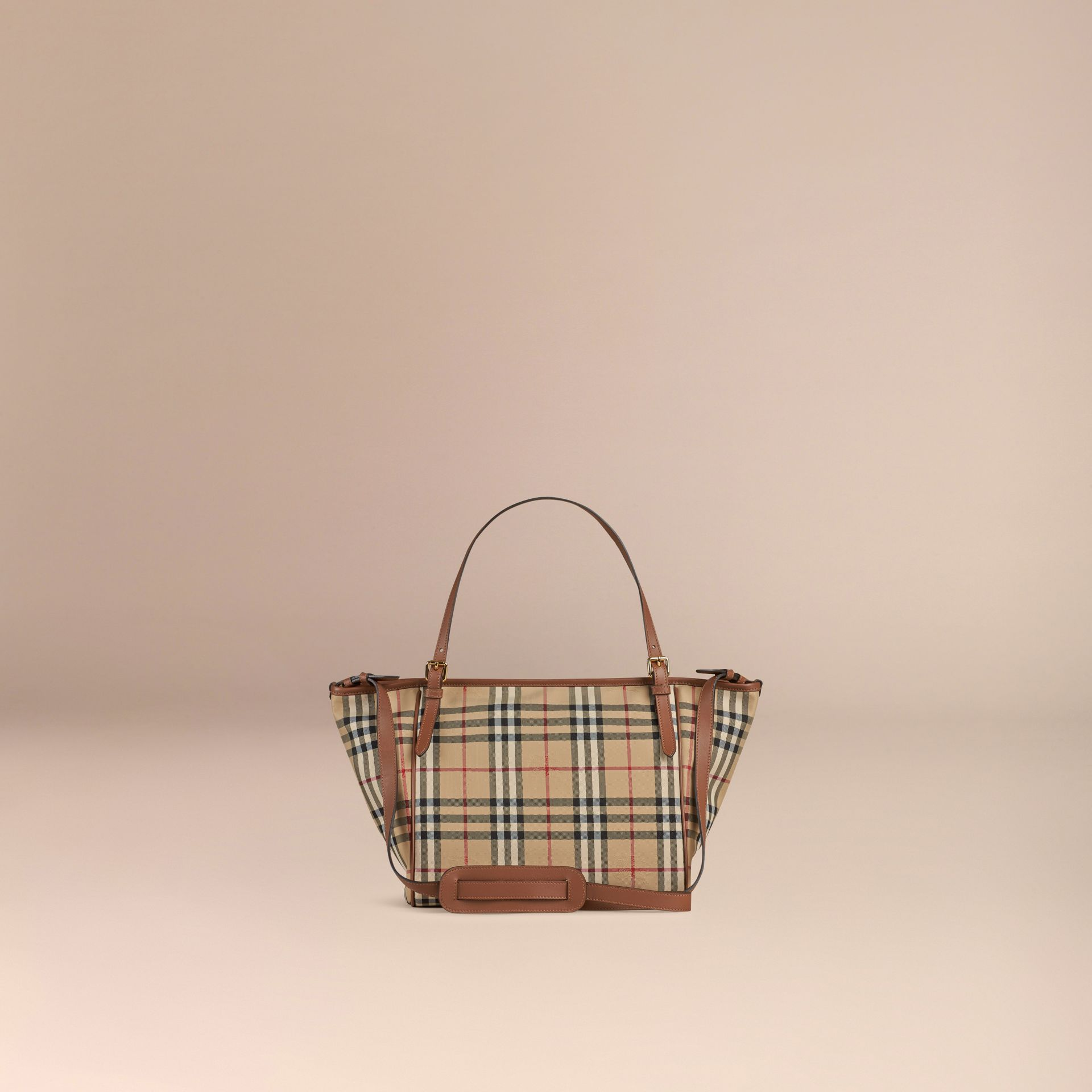 Horseferry Check Baby Changing Tote Bag in Tan | Burberry - gallery image 5