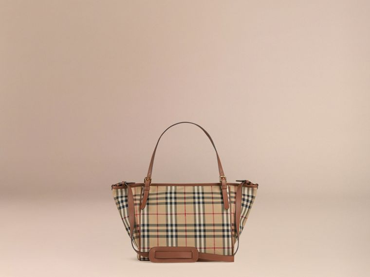 Horseferry Check Baby Changing Tote Bag in Tan | Burberry Canada - cell image 4
