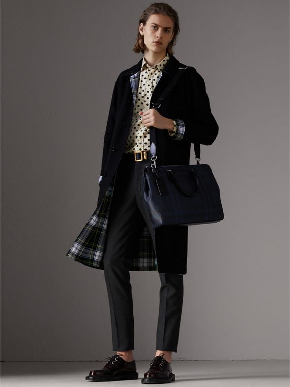 Large London Check Briefcase in Navy/black - Men | Burberry Australia - cell image 2