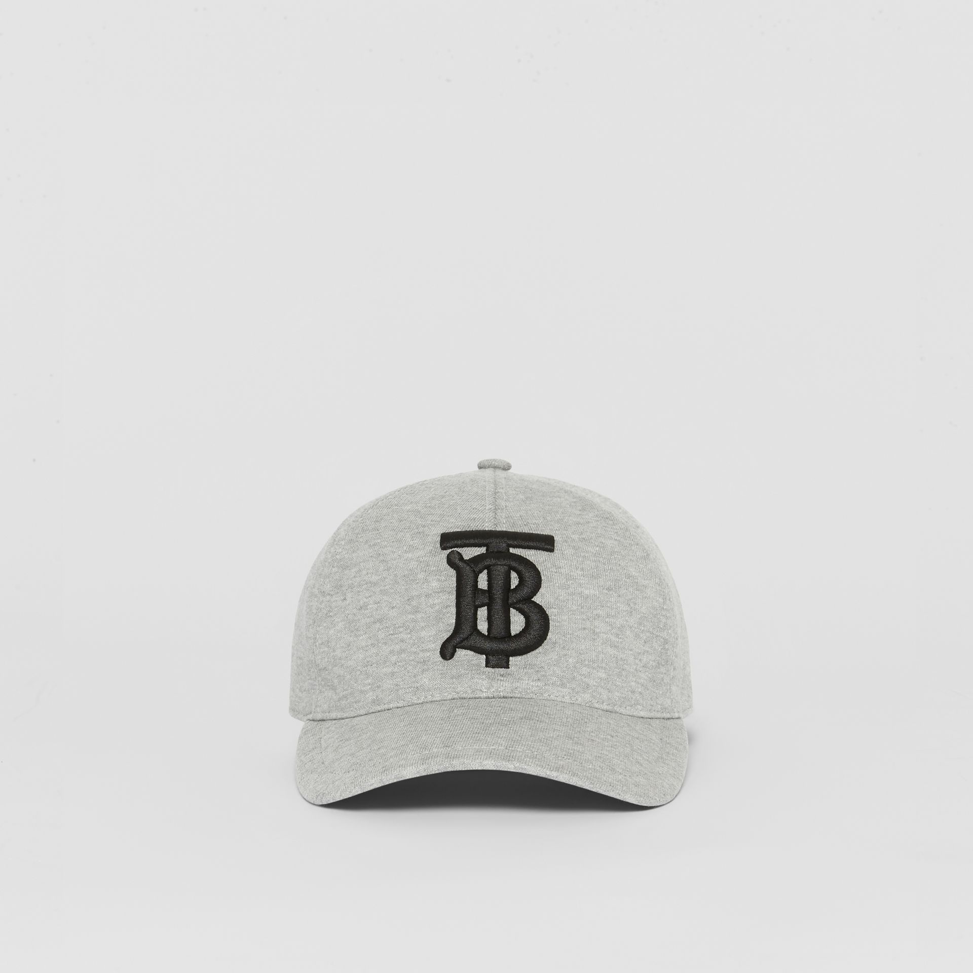 Monogram Motif Baseball Cap in Light Grey Melange | Burberry - gallery image 4