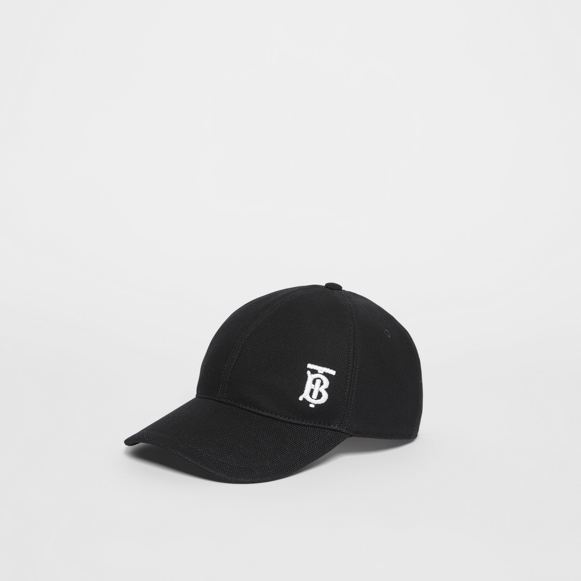 Monogram Motif Baseball Cap in Black | Burberry - gallery image 5