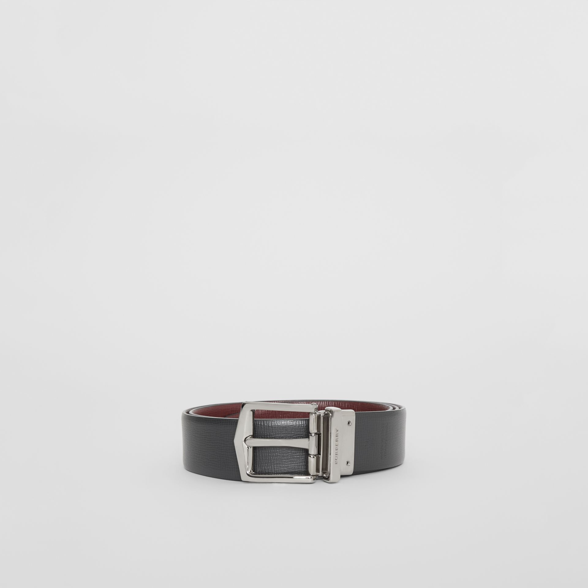 Reversible London Leather Belt in Burgundy Red/black - Men | Burberry Canada - gallery image 7