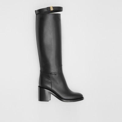 Monogram Motif Leather Knee-high Boots