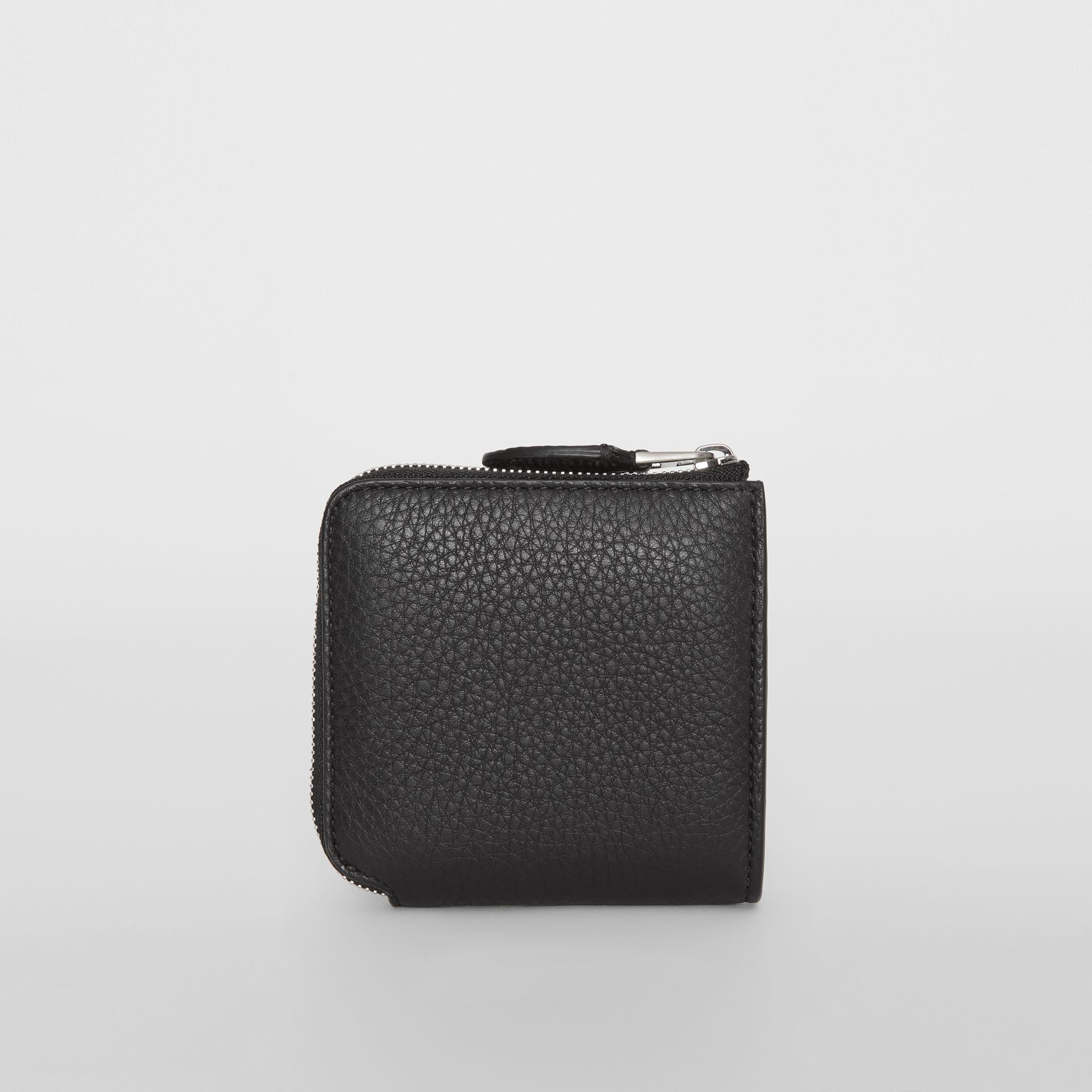 Grainy Leather Square Ziparound Wallet in Black - Women | Burberry Hong Kong - gallery image 6