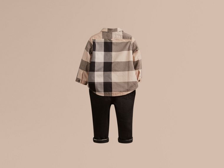 Check Cotton Shirt in New Classic - Boy | Burberry United Kingdom - cell image 2