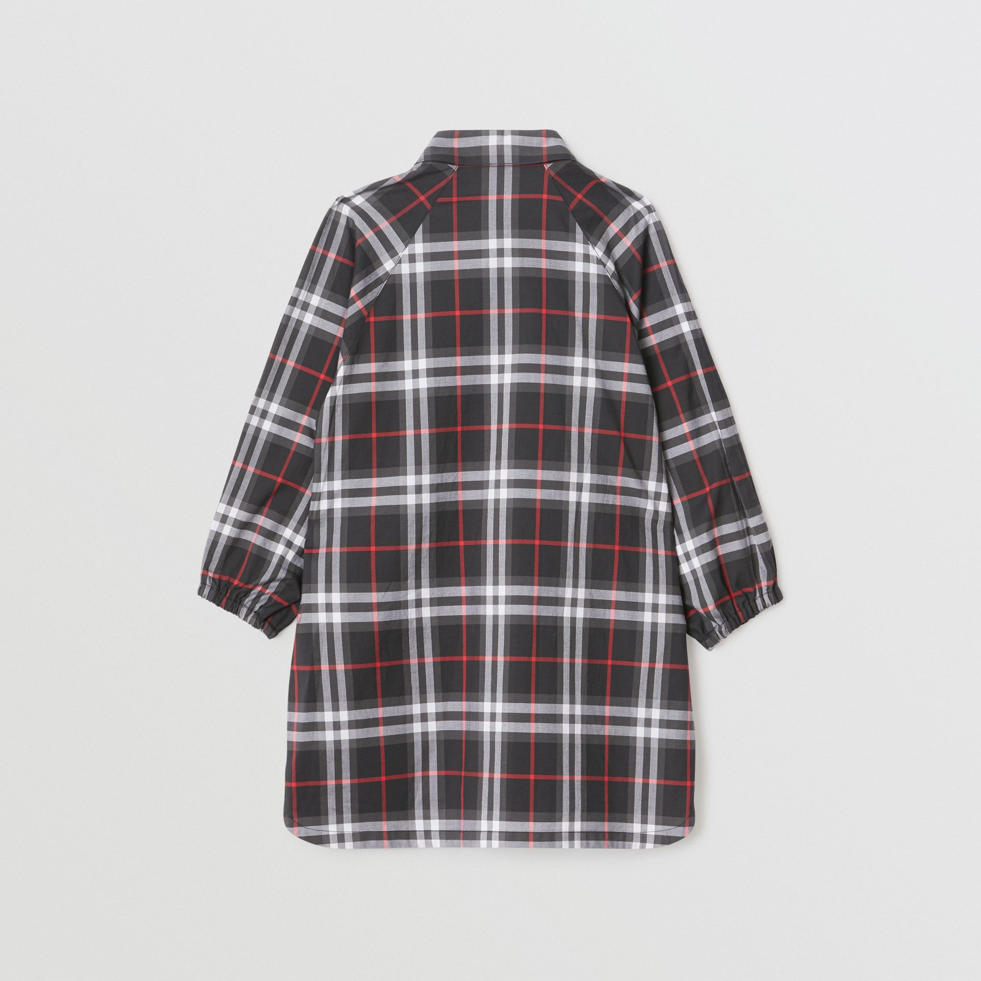 Vintage Check Cotton Shirt Dress in Black | Burberry United States - gallery image 4