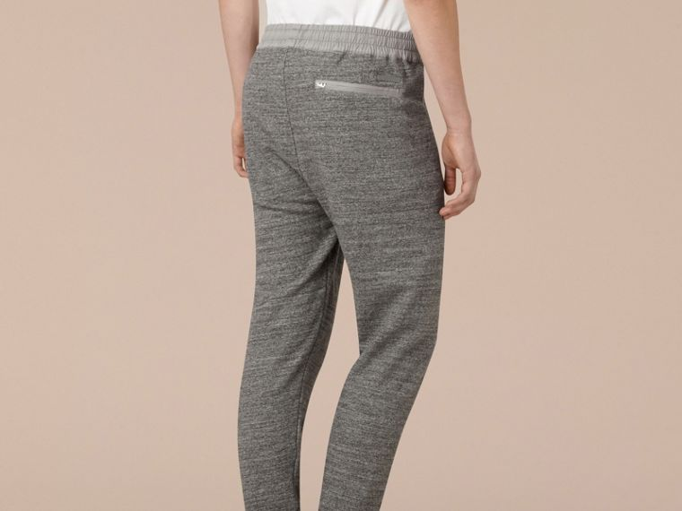 Mid grey melange Cotton Sweat pants - cell image 2