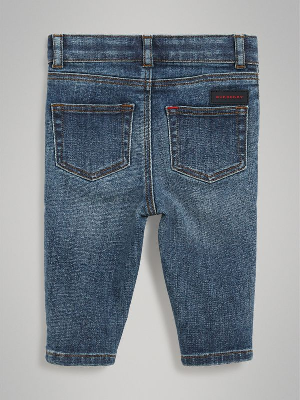 Skinny Fit Stretch Denim Jeans in Mid Indigo - Children | Burberry United Kingdom - cell image 3