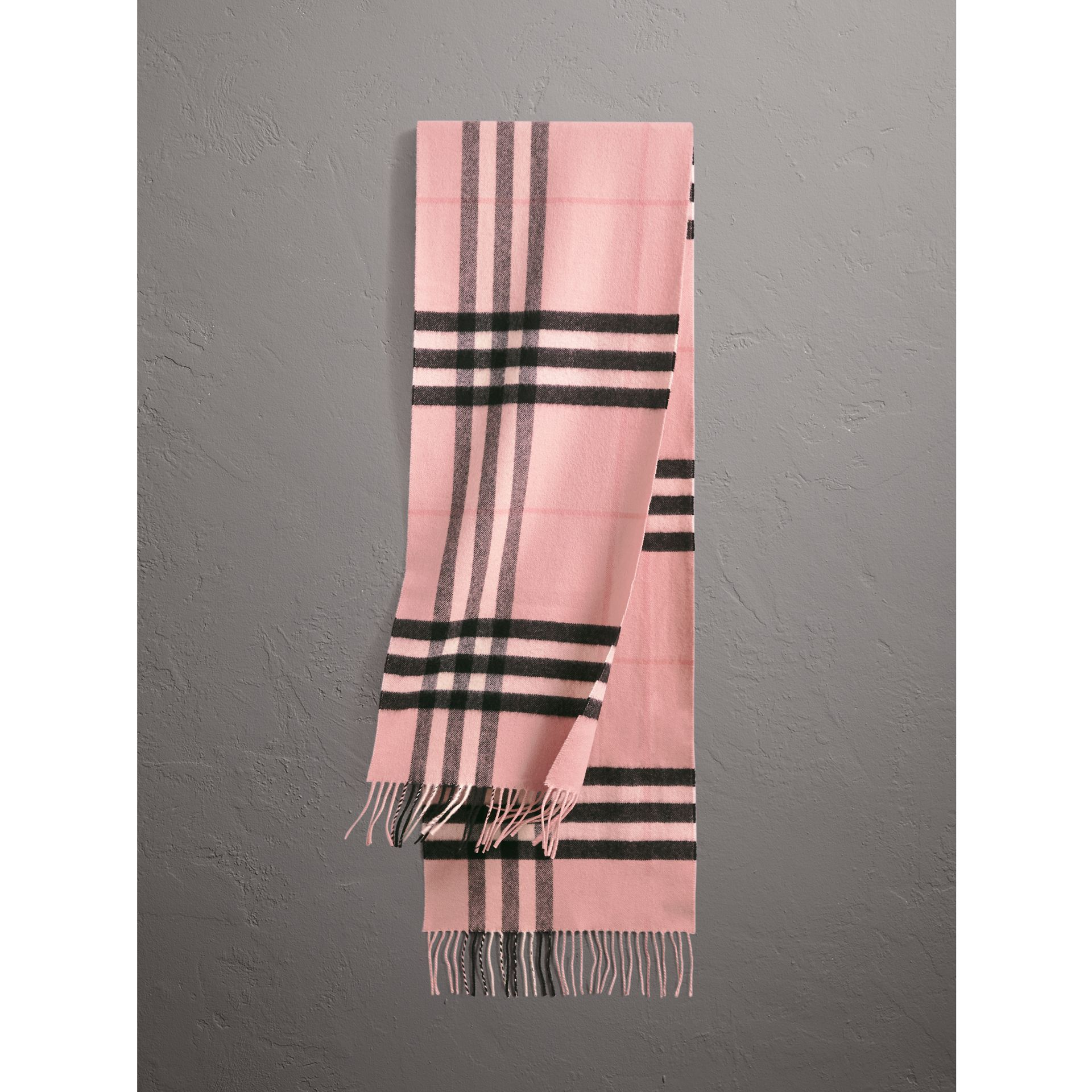 The Classic Check Cashmere Scarf in Ash Rose | Burberry Canada - gallery image 1