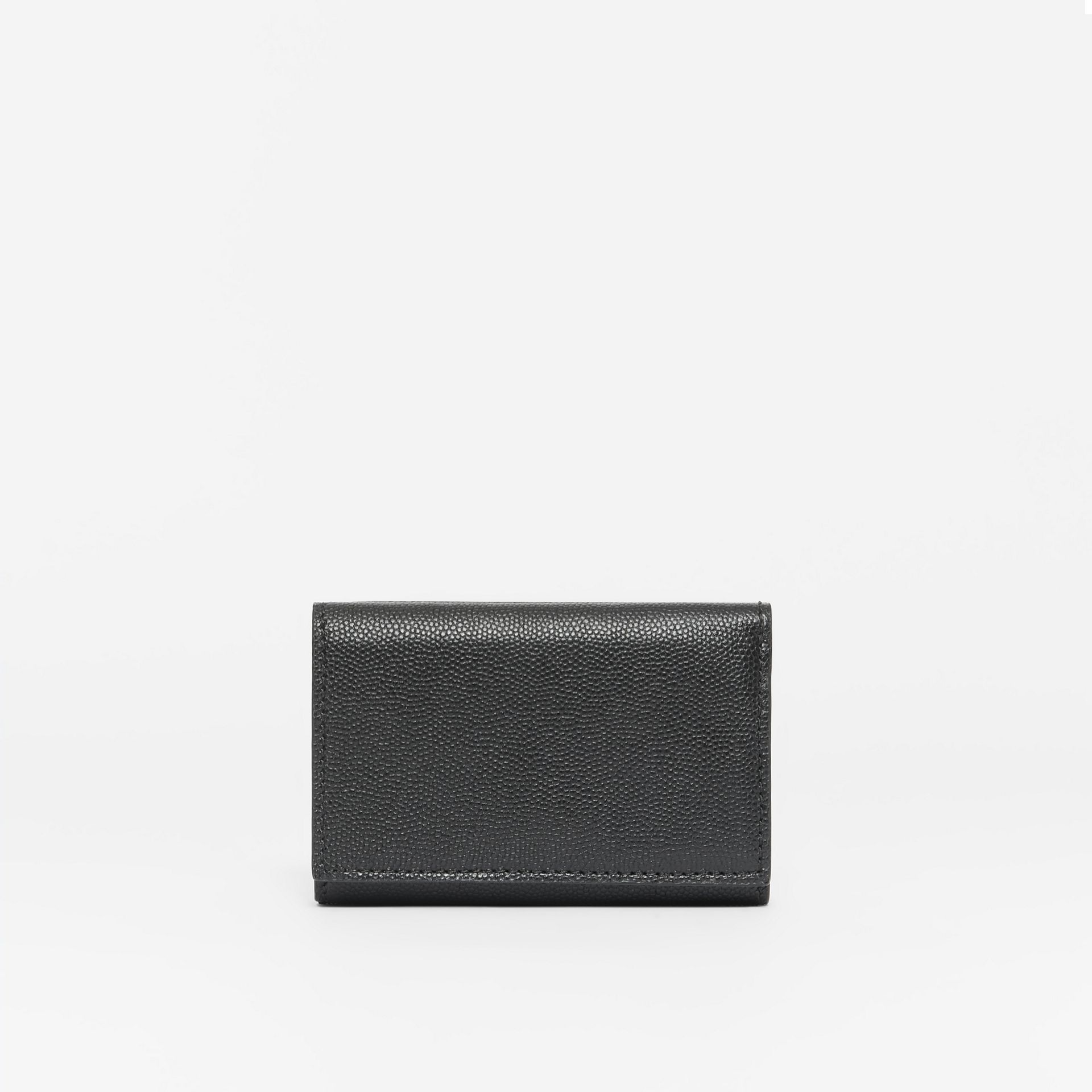 Small Grainy Leather Folding Wallet in Black - Women | Burberry - gallery image 4