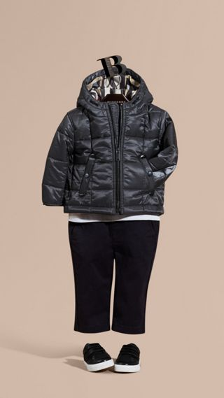 Lightweight Quilted Jacket with Hood