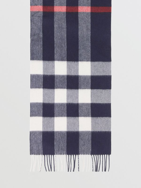Check Cashmere Scarf in Navy | Burberry United Kingdom - cell image 2