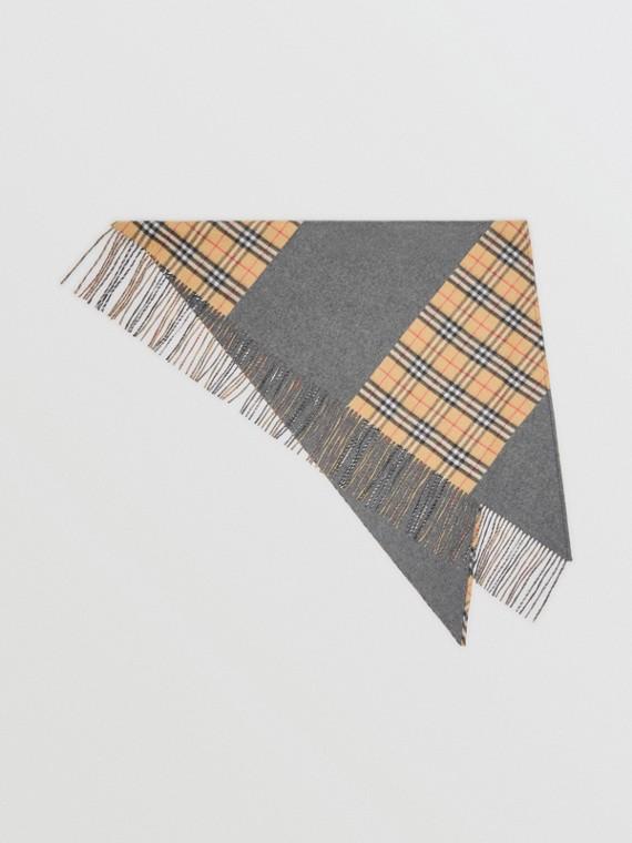 Burberry Bandana Vintage 格紋喀什米爾圍巾 (藍灰色)