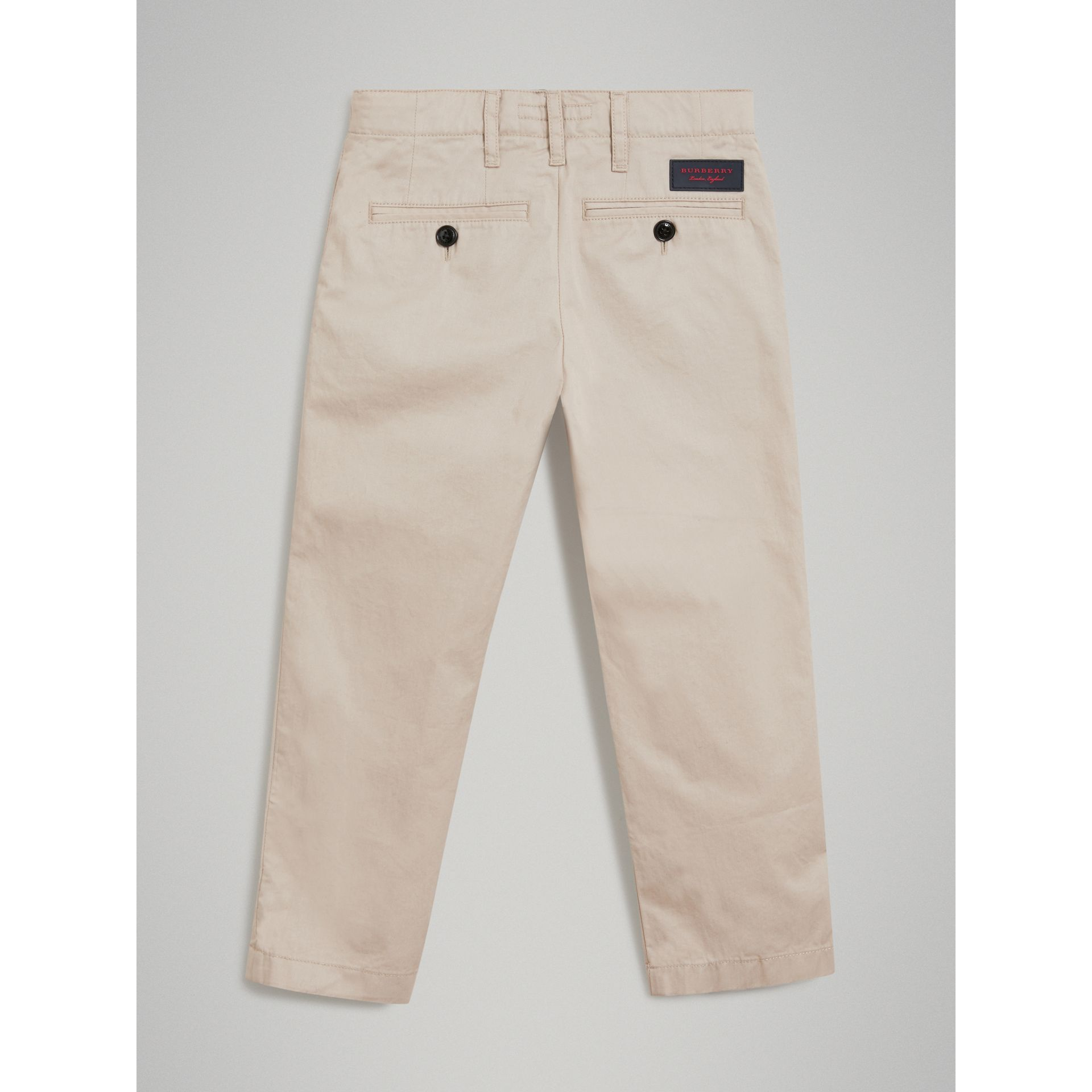 Cotton Chinos in Grey Stone - Boy | Burberry United States - gallery image 3