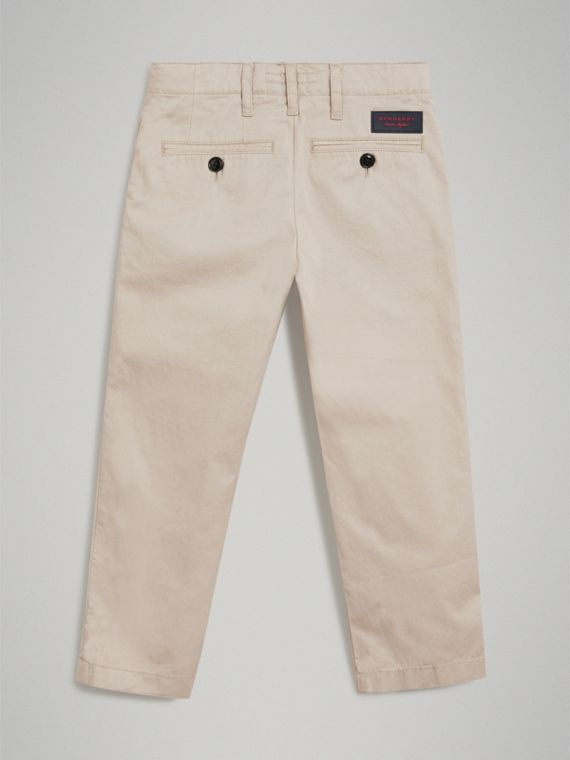 Cotton Chinos in Grey Stone - Boy | Burberry United States - cell image 3