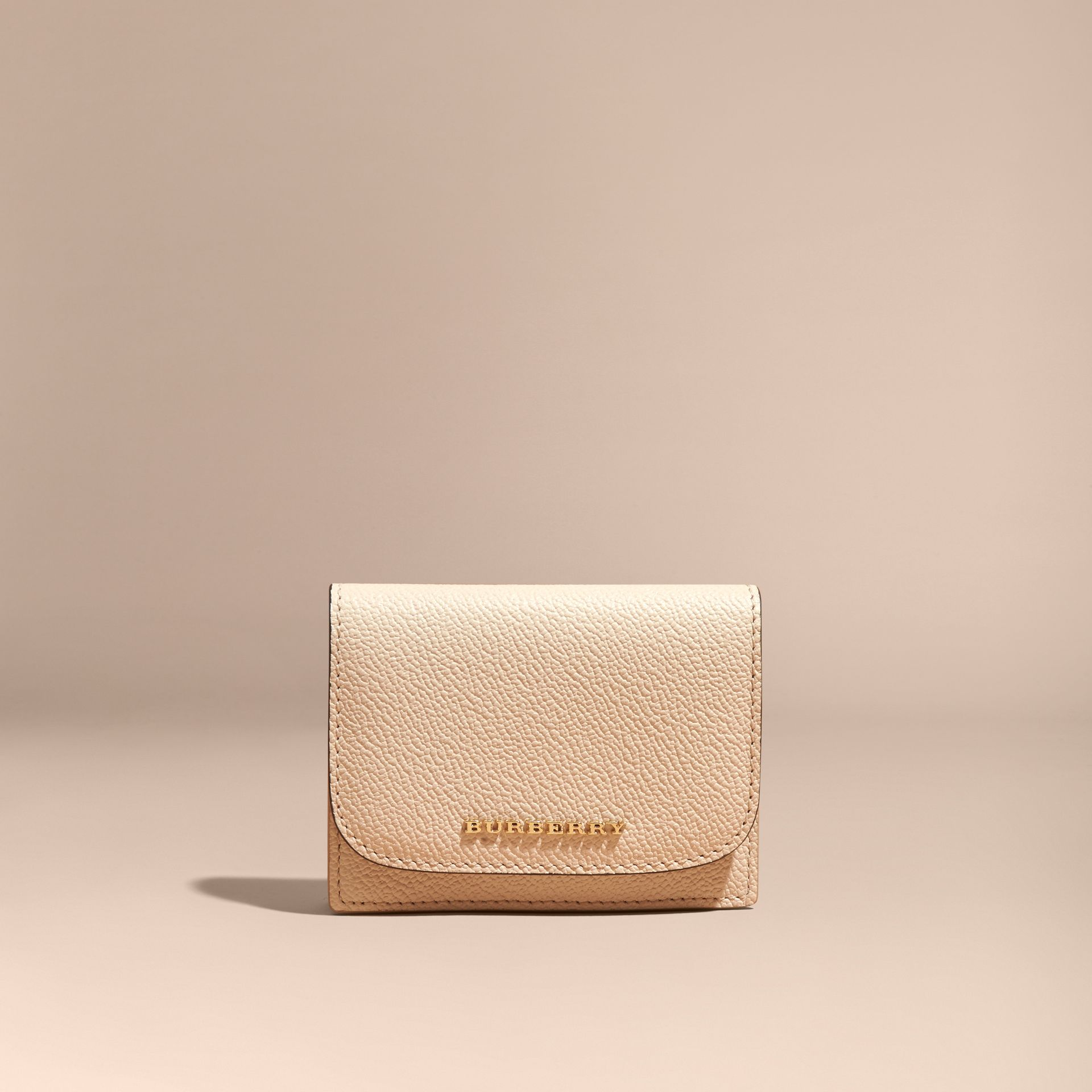 Grainy Leather Card Case in Limestone - Women | Burberry - gallery image 6