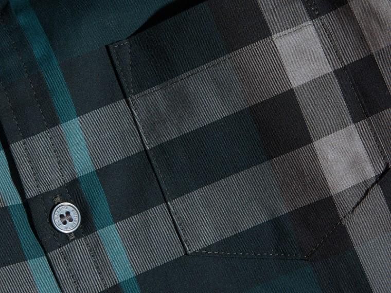 Verdone Camicia button-down in cotone con motivo check Verdone - cell image 1