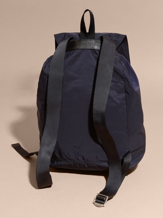 Check Detail Technical Packaway Rucksack in Navy - cell image 3