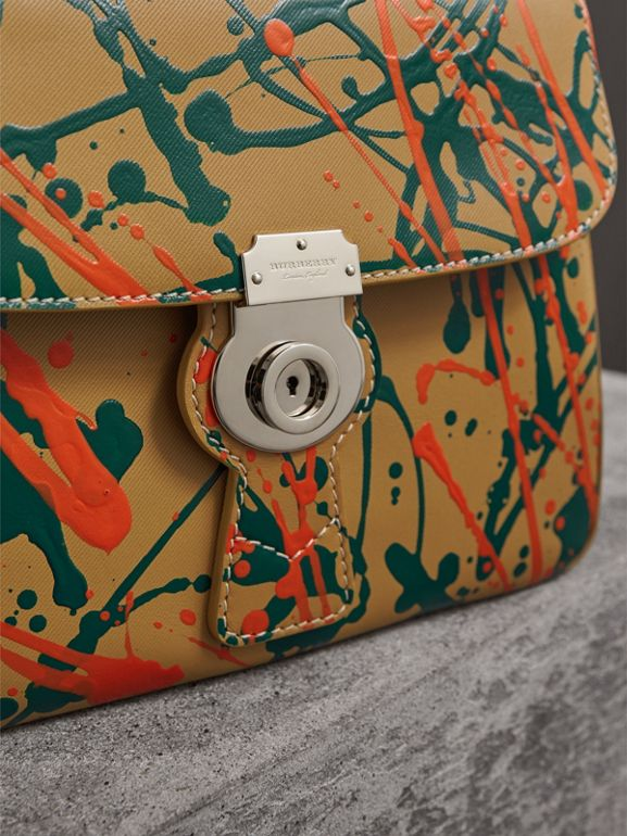 The Medium DK88 Splash Top Handle Bag in Ochre Yellow - Women | Burberry - cell image 1