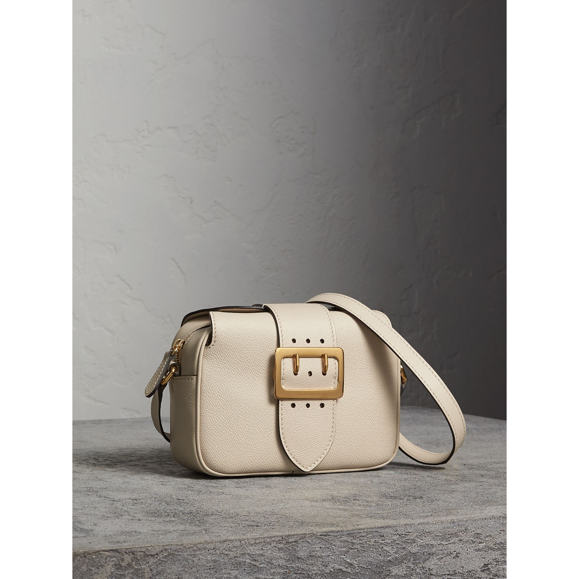 The Small Buckle Crossbody Bag in Leather in Limestone - Women | Burberry - gallery image 5