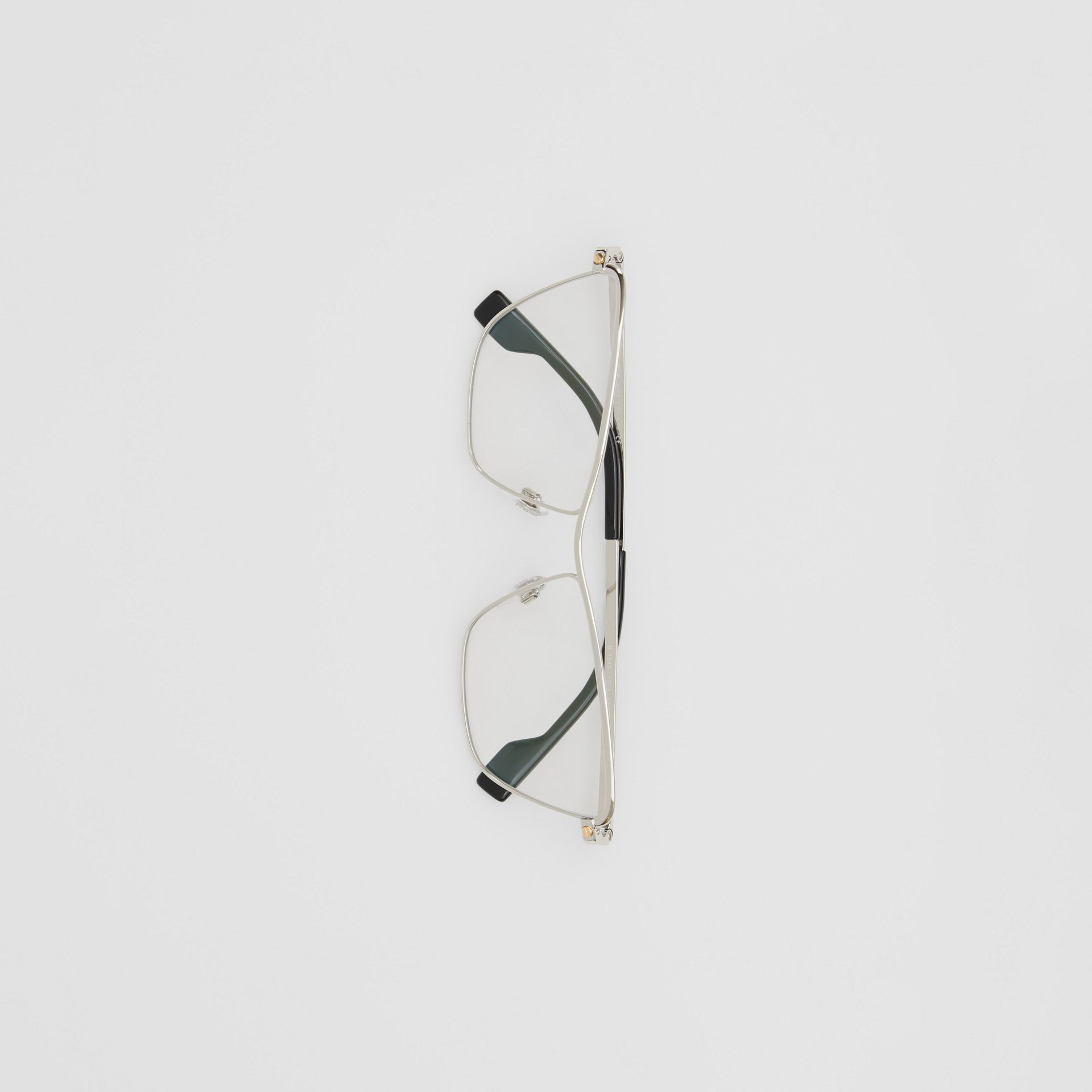 Rectangular Optical Frames in Silver - Women | Burberry United Kingdom - gallery image 2