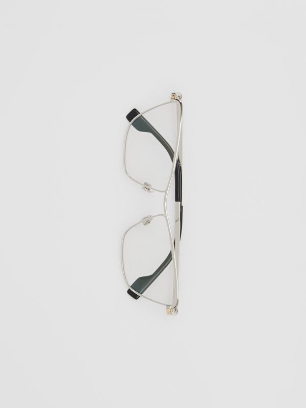 Rectangular Optical Frames in Silver - Women | Burberry - cell image 2