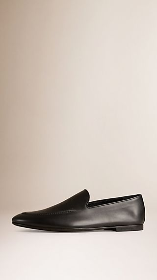 Leather Whole-cut Loafers