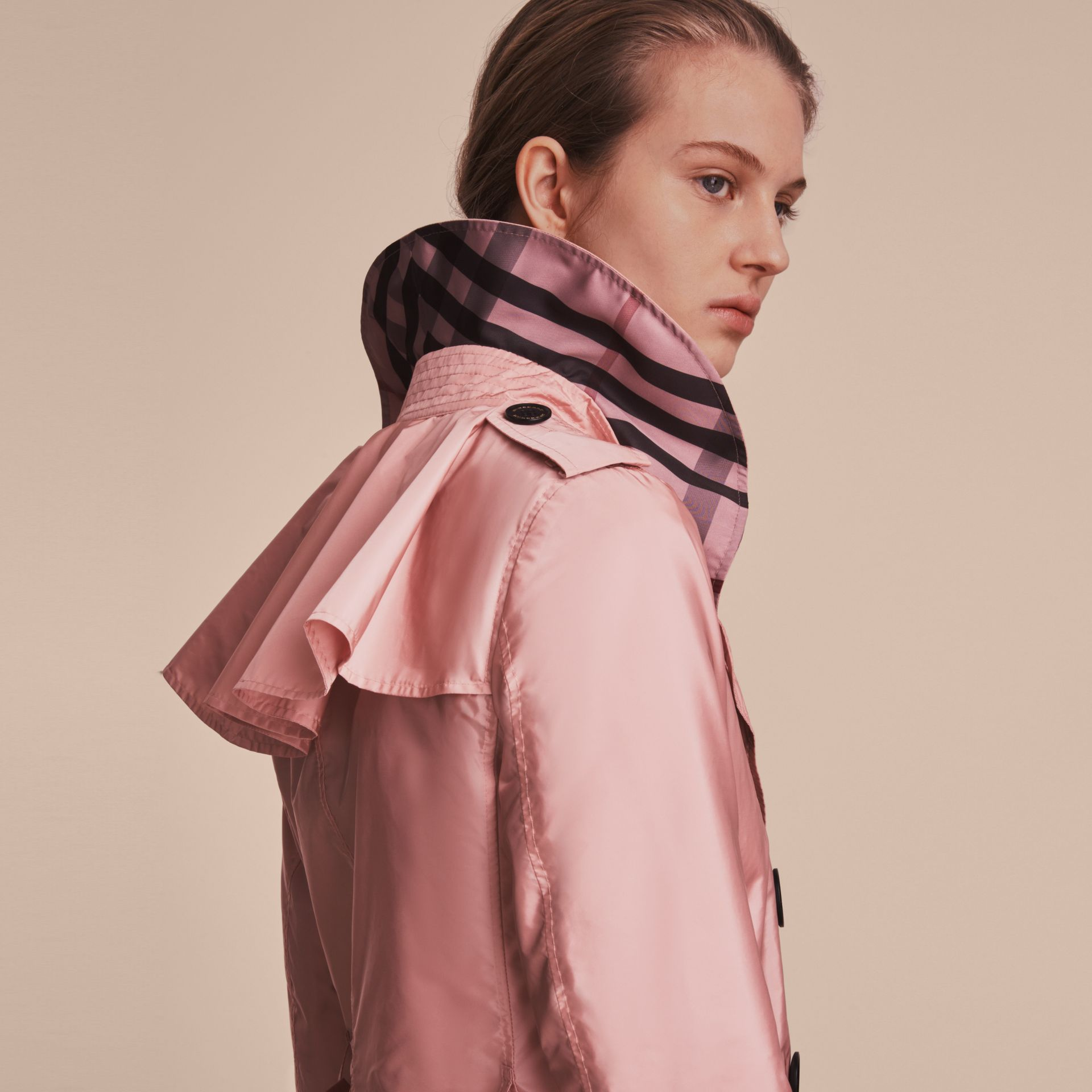 Showerproof Trench Coat in Antique Rose - Women | Burberry United Kingdom - gallery image 5