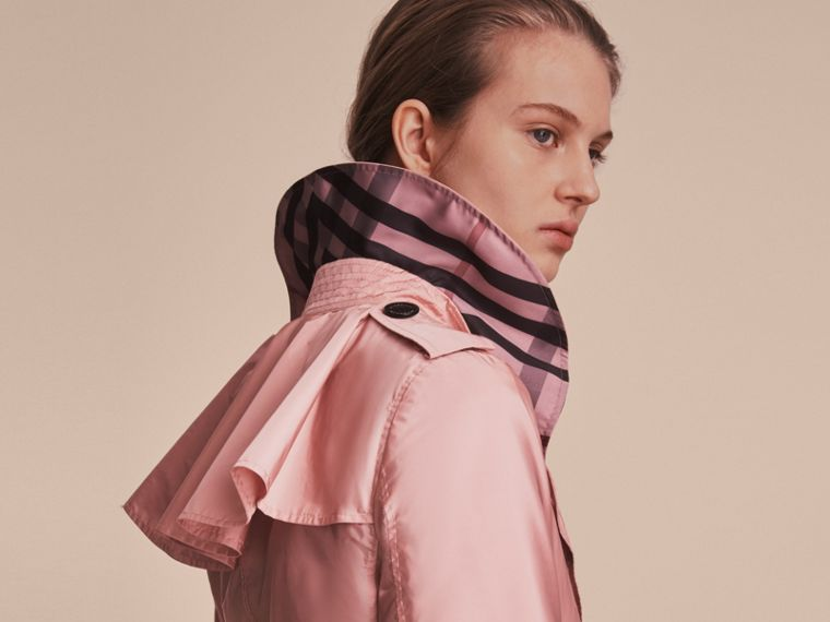 Showerproof Trench Coat in Antique Rose - Women | Burberry - cell image 4