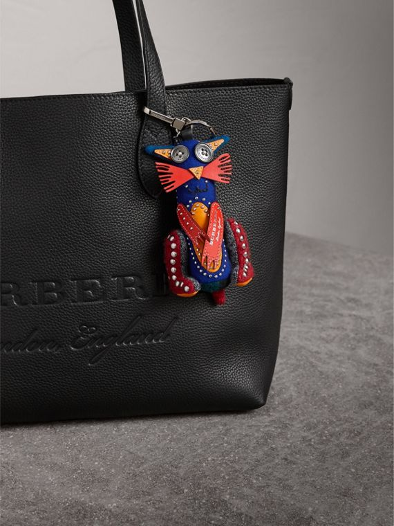 Rufus The Cat Cashmere Charm in Navy/red | Burberry United Kingdom - cell image 2