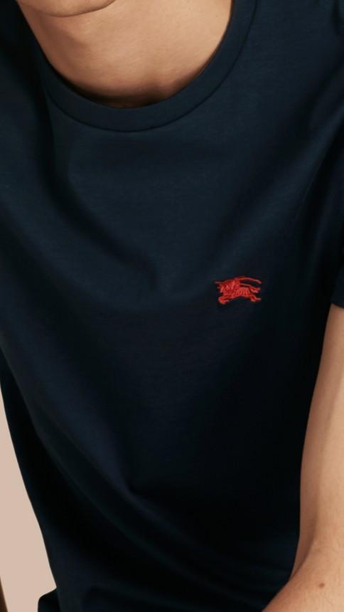 Navy Liquid-soft Cotton T-Shirt Navy - Image 5