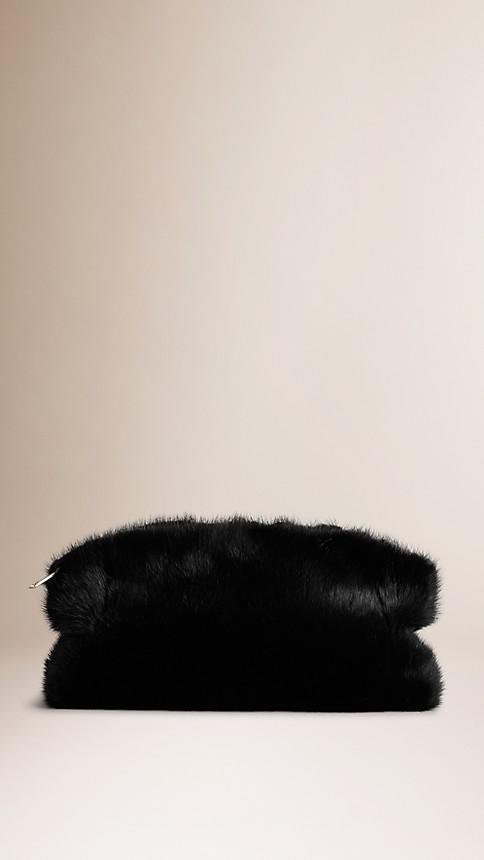 Black Mink Clutch Bag - Image 1