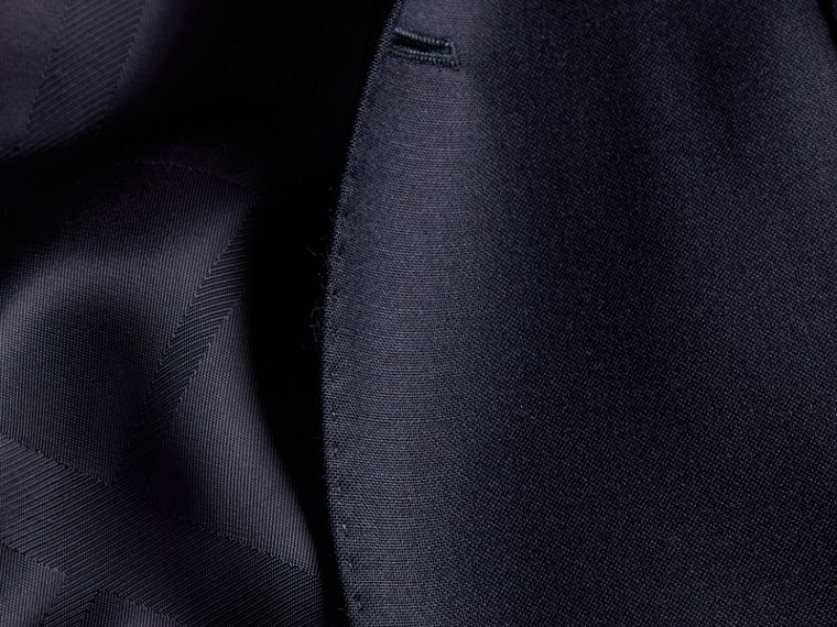 Slim Fit Wool Part-canvas Suit in Navy - Men | Burberry Hong Kong - cell image 1