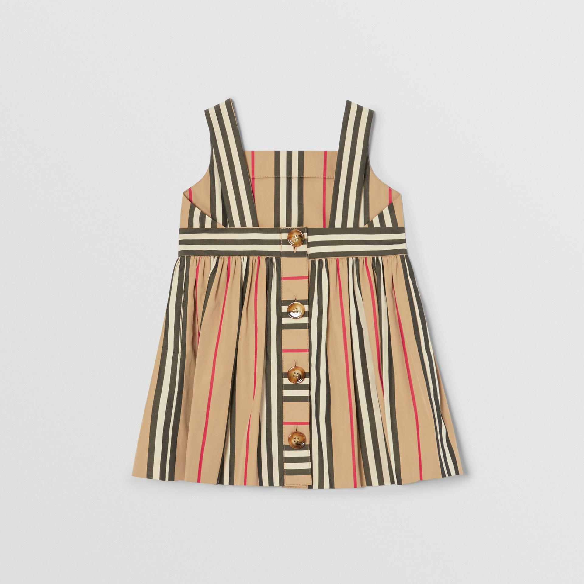 Icon Stripe Cotton Poplin Dress in Archive Beige - Children | Burberry United States - gallery image 3