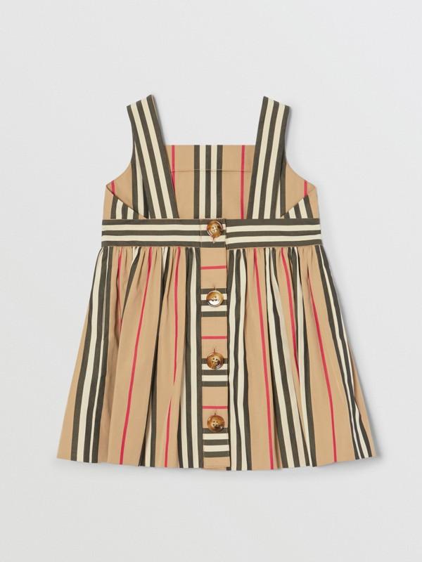 Icon Stripe Cotton Poplin Dress in Archive Beige - Children | Burberry United States - cell image 3