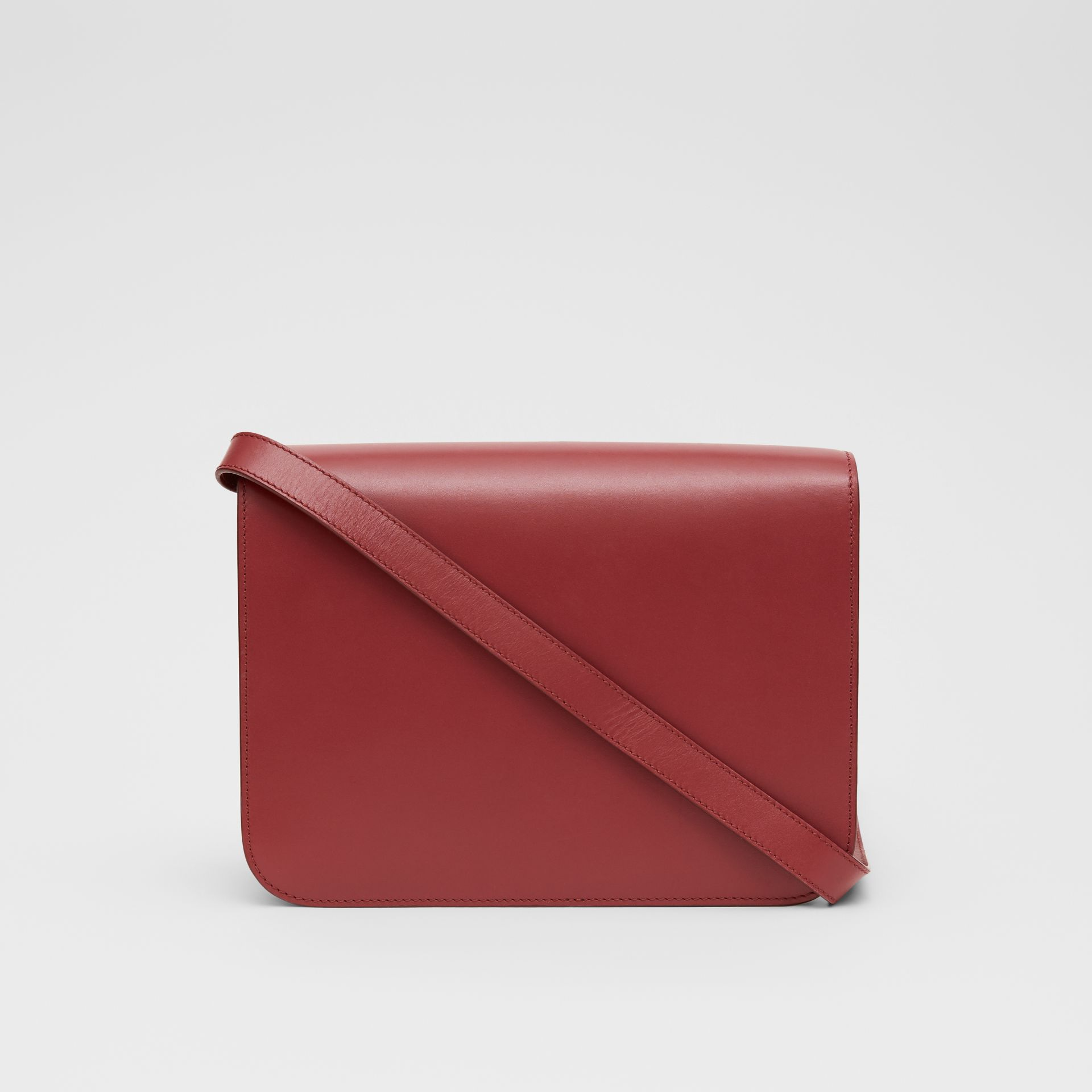 Medium Leather TB Bag in Crimson - Women | Burberry United Kingdom - gallery image 7
