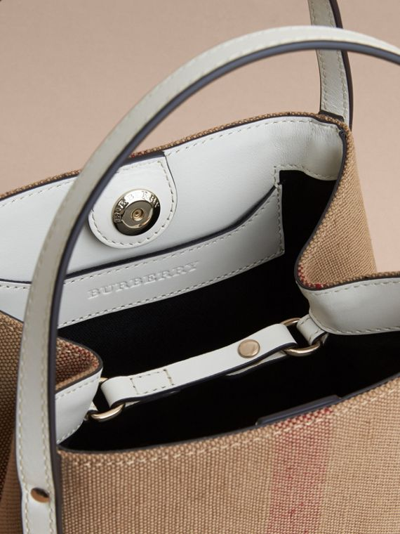 Canvas Check Tote Bag | Burberry - cell image 3