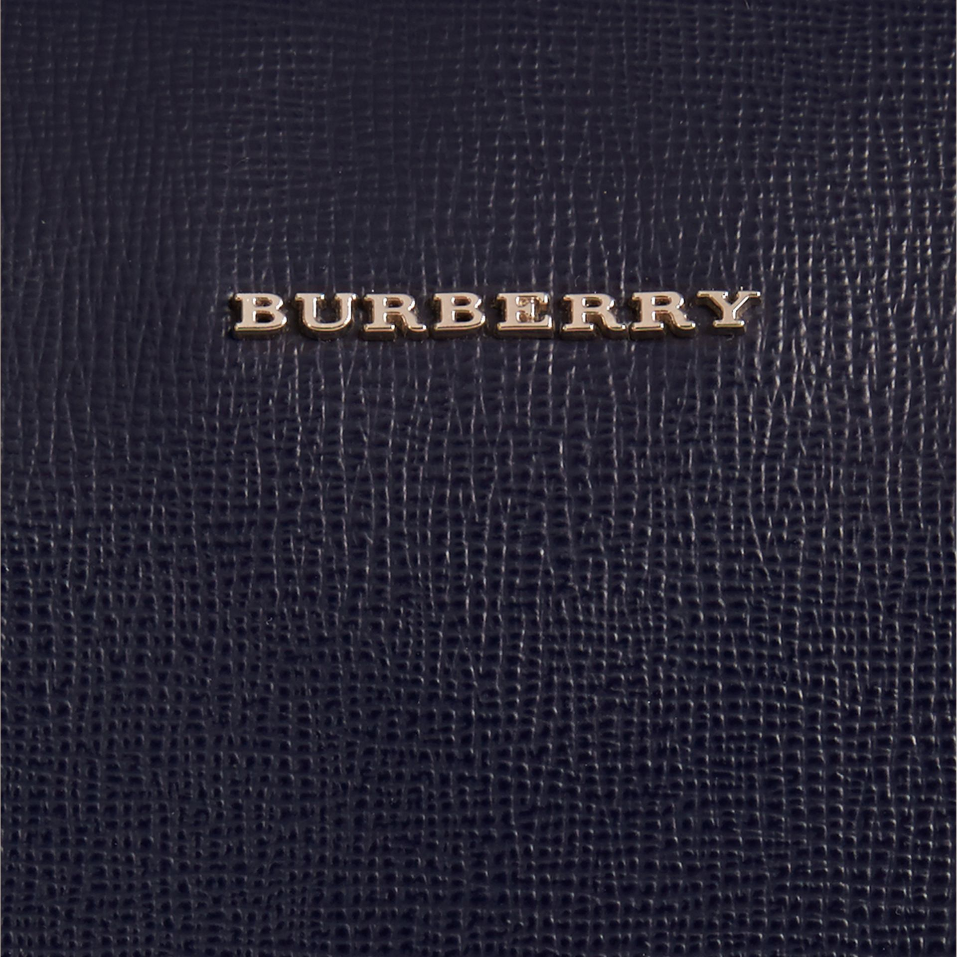 The Slim Barrow in London Leather in Dark Navy - Men | Burberry - gallery image 2