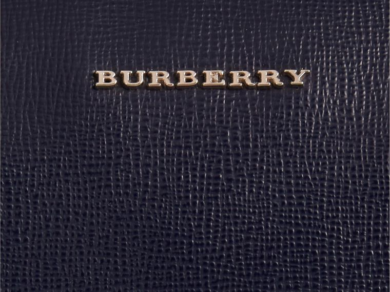 The Slim Barrow in London Leather in Dark Navy - Men | Burberry - cell image 1